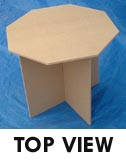 Octagonal trade show Drape Table